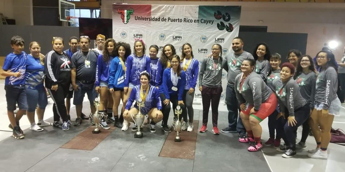 Taínos y Pioneras ganan el campeonato de halterofilia de la LAI