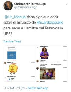 Lin-Manuel Miranda asegura que no hubo influencia del gobierno en Hamilton